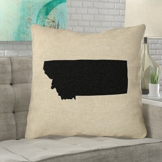 """Bronx Austrinus Montana Pillow in , Poly Twill Double Sided Print/Euro Pillow Ivy Color: Black, Size: 26"""" x 26"""""""