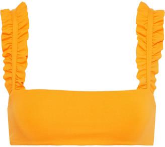 Onia Como Ruffle-trimmed Bikini Top