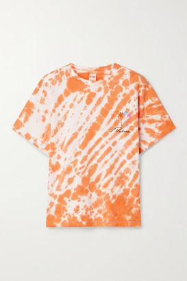 RE/DONE 90s Printed Tie-dyed Cotton-jersey T-shirt - Orange