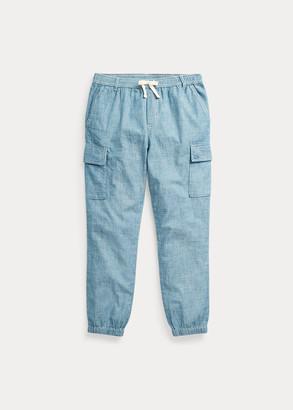 Ralph Lauren Cotton Chambray Cargo Pant