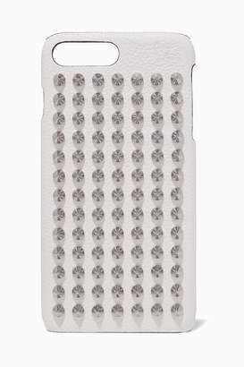 Christian Louboutin Loubiphone Embellished Textured-leather Iphone 7 And 8 Plus Case - White