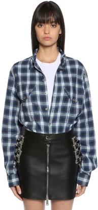 DSQUARED2 Cotton Blend Plaid Shirt