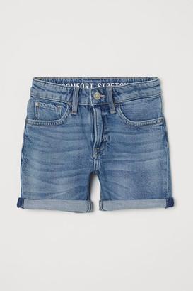 H&M Comfort Stretch Denim Shorts - Blue
