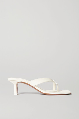 Neous Florae Leather Sandals - Cream
