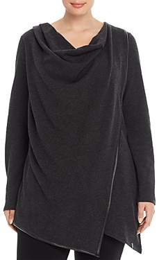 Andrew Marc Plus Performance Plus Draped Waffle Knit Thermal Top