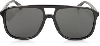 Gucci GG0262S Rectangular-frame Black Acetate Sunglasses