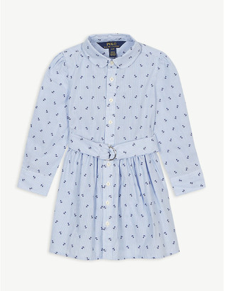 Ralph Lauren Anchor cotton shirt dress 7-14 years