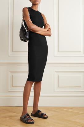 Ninety Percent Net Sustain Stretch-tencel Dress - Black