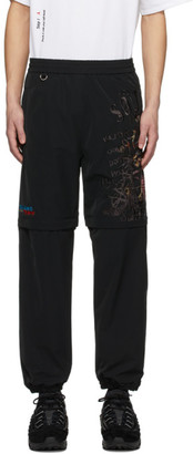 Chaos Doublet Black Embroidery Two-Way Sweatpants