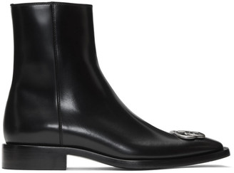 Balenciaga Black Rim BB Zipped Boots