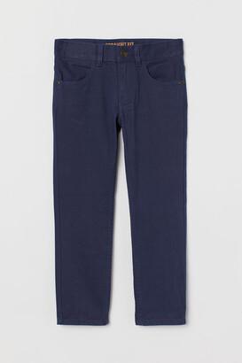 H&M Regular Fit Twill Pants - Blue