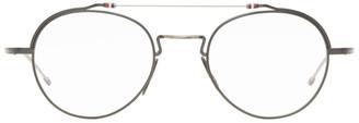 Thom Browne Gunmetal and Silver TBX912 Glasses