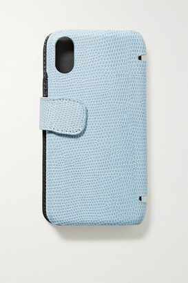 Factory The Case Lizard-effect Leather Iphone X/xs Case - Sky blue