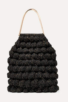 Ulla Johnson Barranco Crocheted Cotton And Lurex-blend Tote - Black