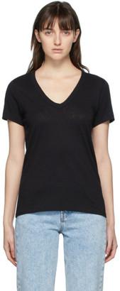 Rag & Bone Black The Slub V-Neck T-Shirt
