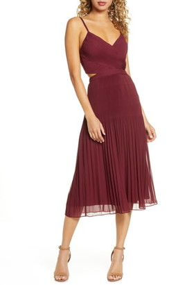 Ali & Jay For the Gram Chiffon Midi Dress