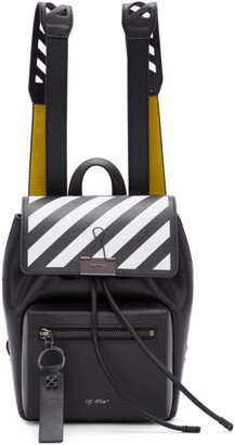 Off-White Off White Black and Yellow Diag Backpack