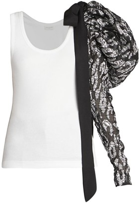 Dries Van Noten Jacquard Puff-Sleeve Tank Top