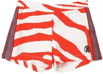 Roberto Cavalli Printed Cotton Sweat Shorts