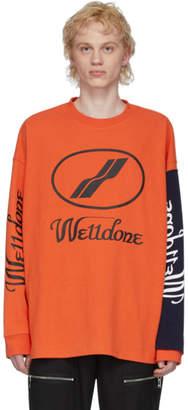 we11done Orange Remake Logo Long Sleeve T-Shirt