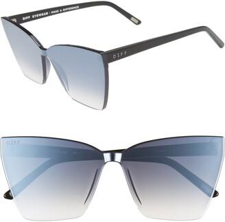 Cat Eye Diff Goldie 65mm Oversize Sunglasses