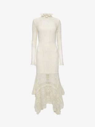 Alexander McQueen Patchwork Lace Knitted Dress