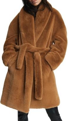 Rag & Bone Bijou Tie Faux Fur Coat