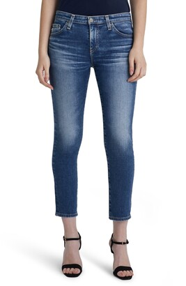AG Jeans Prima Mid Rise Distressed Crop Cigarette Jeans