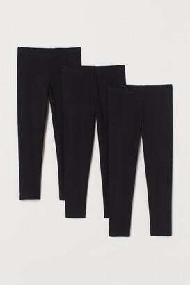 H&M 3-pack Jersey Leggings - Black