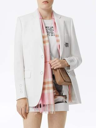 Burberry pink check print cashmere scarf