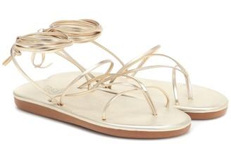 Ancient Greek Sandals String metallic leather sandals