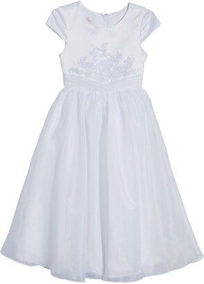 Lauren Marie Floral Embroidered First Communion Dress