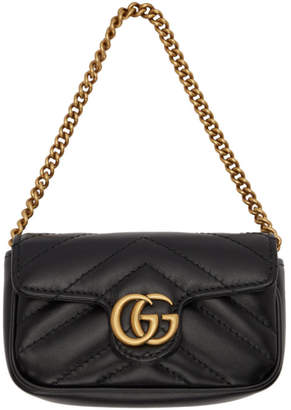 Gucci Black GG Marmont Card Holder