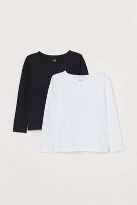 H&M 2-pack Long-sleeved Tops - White