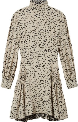 Proenza Schouler animal print long-sleeved dress