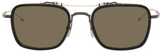 Thom Browne Black and Green TBS816 Sunglasses