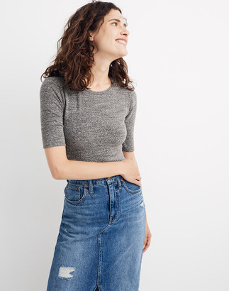 Madewell Crewneck Short-Sleeve Thong Bodysuit