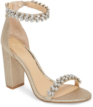 Badgley Mischka Jewel Jewel by Mayra Embellished Ankle Strap Sandal