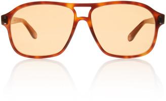 Gucci Oversized Acetate Aviator Sunglasses