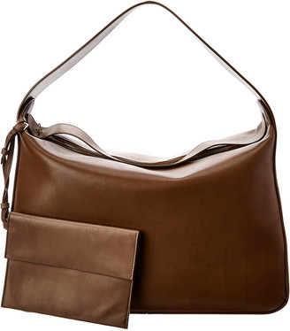 The Row New Hobo Leather Shoulder Bag