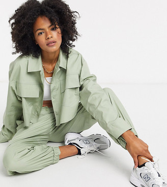 Collusion oversized sweatpants two-piece with seam detail in khaki