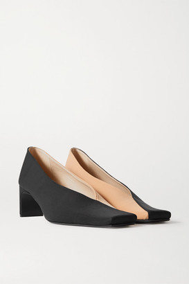Bevza BEVZA - Two-tone Faille Pumps - Black