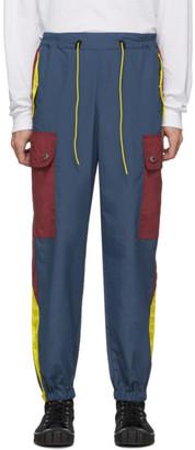 Landlord Navy and Burgundy Gym Teacher Cargo Pants