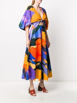 Mara Hoffman Lelia flared midi dress