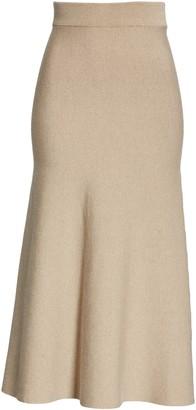Altuzarra High Waist Knit A-Line Skirt
