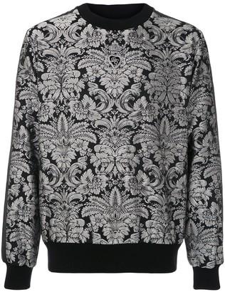 Dolce & Gabbana Heraldic patch jacquard sweatshirt