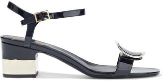 Roger Vivier Chips West Buckle-embellished Patent-leather Sandals