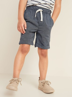Old Navy Functional Drawstring Madras Pull-On Shorts for Toddler Boys