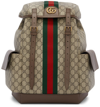 Gucci Brown Medium GG Ophidia Backpack