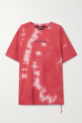 Ksubi Oversized Printed Tie-dyed Cotton-jersey T-shirt - Papaya